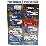 Planet of Toys Kid's Pullback Airport Series of 10 Cars (POTPOT0023-F11AIRPORTCARSET)