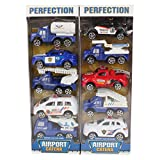 #8: Planet of Toys Kid's Pullback Airport Series of 10 Cars (POTPOT0023-F11AIRPORTCARSET)