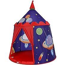 SONGMICS Tienda de campaña Infantil, Carpa Infantil Plegable, Casa de Juegos para Interiores y