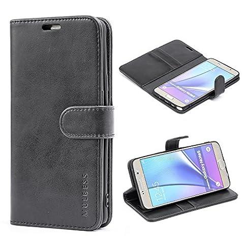 Mulbess Ledertasche im Ständer Book Case / Kartenfach für Samsung Galaxy Note 5 Tasche Hülle Leder