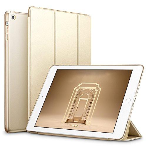 ESR iPad Mini Hülle, PU Schutzhülle für iPad Mini 3/2/1 Ledertasche Smart Case Cover mit Durchschaubar Rückseite Abdeckung (Champagner Gold)