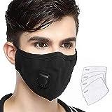 Lyanty anti-pollution masque militaire grade N99 masques lavables de bouche de coton...