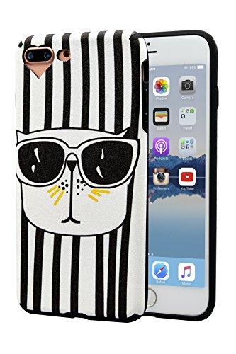 Handy Fall [M025]-iPhone 7Plus/8Plus, Black/Cat