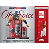 Old Spice Swagger Hardest Working Body Wash, Deodorant Shampoo Conditioner NFL Gift Pack (Bonus Socks Included)