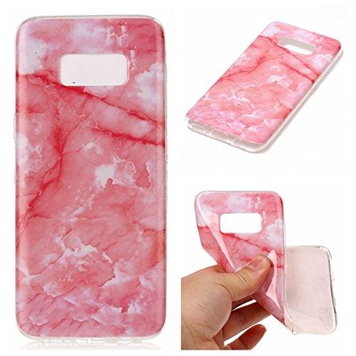 Per Marmo copertura di Samsung Galaxy S8 Inoltre Stone Texture modello anti-graffio antiurto ultra sottile molle della protezione posteriore Case Cover Shell ( Color : N ) O