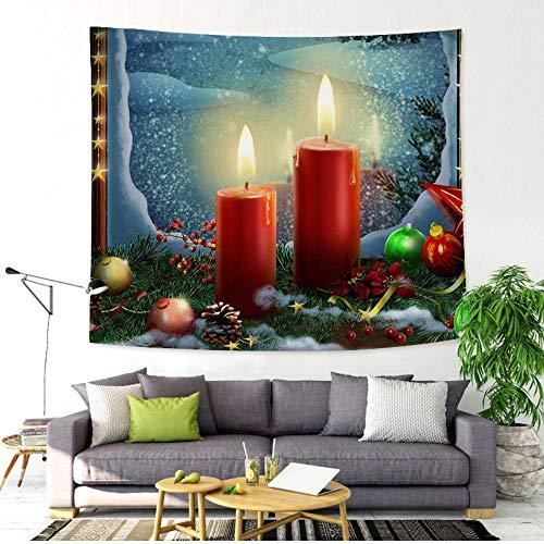 QLIYT Tapices Decorativos Hogar De Navidad Colgante De Pared Tapiz Bell Santa...
