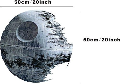 Star-Wars-estrella-de-la-muerte-adhesivo-de-pared-50-cm-Decoracin-del-hogar-adhesivo-extrable