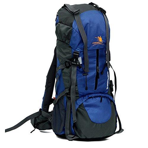 LINGYU Großer Trekking Rucksack aus Strapazierfähigem Nylon Klettern Wandern Trekking Reisen Sport und Camping Rucksack Wasserdicht 65+5L