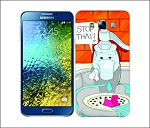 Galaxy Printed 2643 Punchlines Faucet Hard Cover for Samsung E5