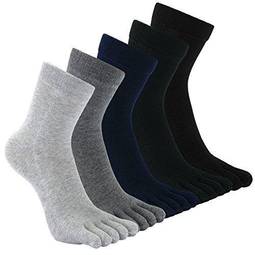 Herren Zehensocken Baumwolle Männer Five Fingers Socken Sport laufende Zehe Socken
