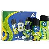 Adidas Get Ready Herren Geschenk Set EDT + Deo + Duschgel Geschenkset Parfüm