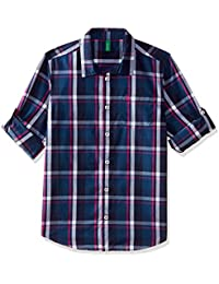 United Colors of Benetton Boys' Checkered Regular Fit Shirt
