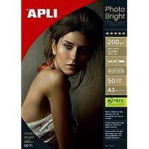 Apli 4457 - Bolsa con 50 hojas de papel fotográfico, 200 g, Unidades contenidas: 1