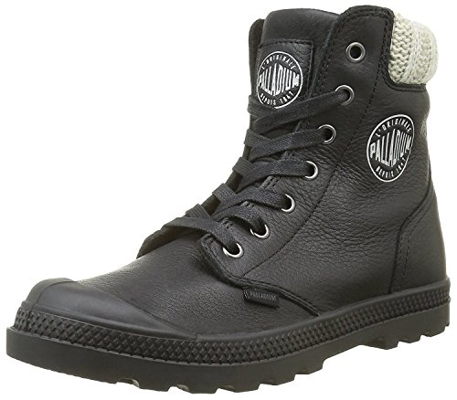 Palladium Pampa Knit Lp F, Baskets Hautes Femme Noir