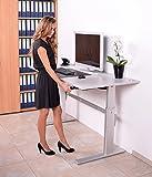 Höhenverstellbarer Schreibtisch in Weiß Ergonomisch Elektrisch B 160 cm x T 80 cm Bürotisch Arbeitstisch Workstation Arbeitszimmer (B 160 cm x T 80 cm, Weiß) - 5