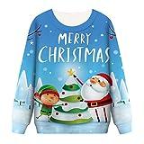 CICIYONER 3D Weihnachtsdruck Pullover Sweatshirt Frauen Herbst-Winter Bluse Strickpullover