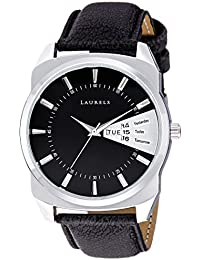 Laurels Invictus Black Dial Day and Date Function Wrist Watch - For Men