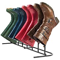 Andrew James Boot Rack, Metal Boot Organiser Storage Stand for 4 Pairs, Indoor & Outdoor Use, Ideal for Wellie Boots, Walking Boots or Fashion Boots