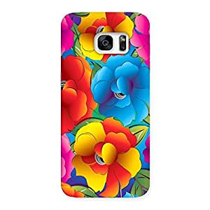 Flower Art Print Back Case Cover for Galaxy S7 Edge