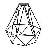 MagiDeal Vintage Metall Diamant Form Anhänger Deckenleuchte Lampe Käfig Lampenschirm