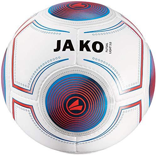 JAKO Herren Ball Futsal Light 3.0, weiß blau/flame-360g, 4 -