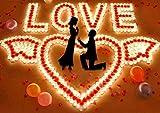 Ailiebhaus 50 Teelicht Set romantische Liebe Herz Form Pudding Rauchfreie Duft Kerzen Schwimmkerzen Rot - 3