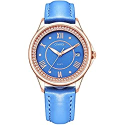 Comtex Girl's Watches with Blue Dial Analogue Display Calendar Water Resistant