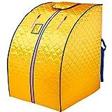 XXJY Portable Home Therapeutische Dampfsauna Raum Ganzkörperbegasung Sauna Dampf Tragbare Sauna Kabine Dampf Ganzkörperbegasung Infrarot Sauna Faltbare Sauna Box (80X80X100 cm / 31,5X31,5X39,37 Zoll)