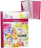 alles-meine.de GmbH Blumen & Blüten  - Zeugnismappe Gr. A 4 / Dokumentenmappe - Incl. Name -  ..