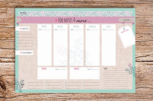 For Notes & More - Block A4 Wochenkalender Planer