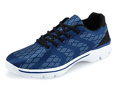 UMmaid Herren Walkingschuhe Atmungsaktiv Gym Turnschuhe Freizeit Schnürer Sportschuhe Sneaker