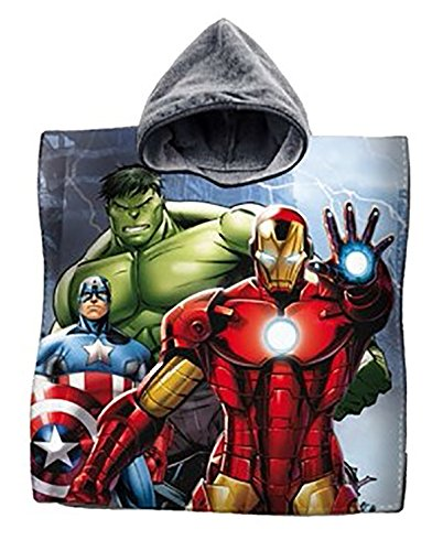Bademantel Poncho Handtuch Baumwolle Avengers Captain America Iron Man Hulk Meer Kinder