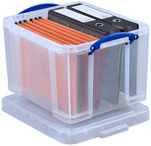 Really Useful Box 35 Litre Office/General Storage - Clear Test