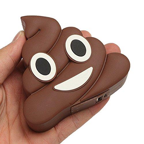 Power Bank Caca Emoji Emoticons 1200mha in Geschenkbox inklusive Kabel für Original Geschenke Power Bank Geschenk Kinder Original und billig. Erinnerungen für Hochzeit, Kommunion, Scheiße (Billig Hochzeit Lieferungen)