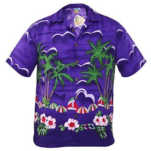 Men-TrueFace-Hawaiian-Shirt-SPRING-Purple-L