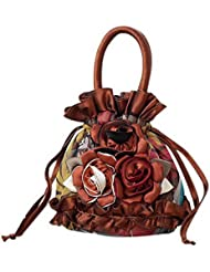 Sac à main à motifs ethniques Sac à bandoulière portatif Mini sac à monnaie mini marron