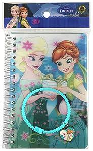 Memory Technology ed97233-Frozen Fever Notes 3D con Pulsera con Brillantes y Charm