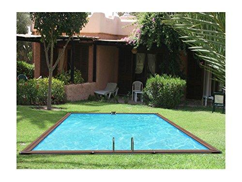 Pool Holz waterclip Leros 850x 520x 147cm Außerhalb Boden rechteckig
