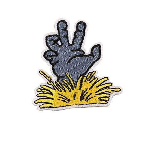 probeninmappx Nähen Sie auf Patches Abzeichen DIY Applique Eisen auf Patches Kürbis Bestickt für T-Shirt Jeans Jacken Kleidung Taschen Decor Nähen, 5 * 8 cm
