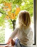 Fenstersticker No.18 Lady Füchslein wald tiere fuchs Kinder Fenstersticker Fensterfolie Fenstertattoo Fensterbild Fenster-Deko Fensteraufkleber Fensterdekoration Glas-Sticker Größe: 137cm x 145cm