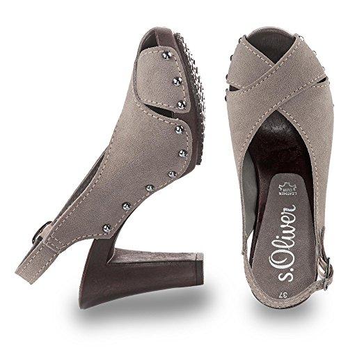 S S Sandalette oliver Cinza Cinza Sandalette x0aq4x