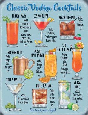 """15X 20cm \""""Gin  Mixology\""""-Wandschild Cocktail-Rezept Metall Werbung."""