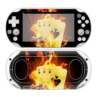 Sony PS Vita 2000 Playstation Skin Design Foils Faceplate Set - Burning Cards Design
