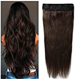"S-noilite One Piece Clip in Human Hair Extensions Remy Real Natural Hair 16""-22"""