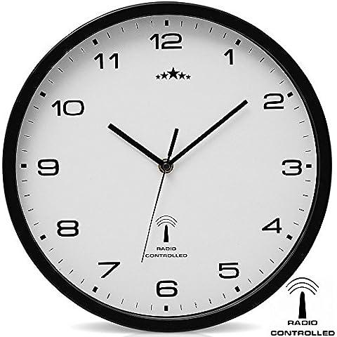 Orologio da parete Orologio radiocontrollato Quarzo Orologio da parete radiocontrollato Analogico Orologio 31cm Regolazione ora Automatico - Radiocontrollato Orologio Da Parete Analogico