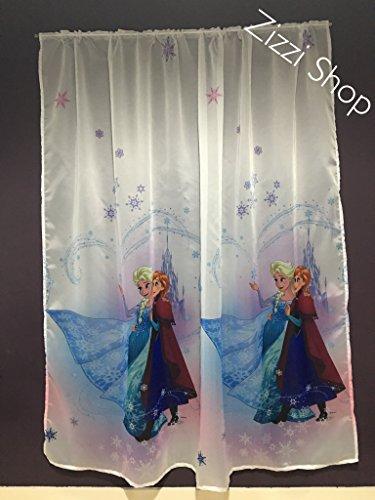 Licenza ufficiale del fumetto tenda in voile con pieghe tape- frozen–150cm larghezza x 156cm goccia