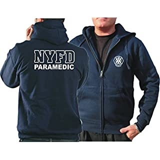 New York Hooded Jacket Navy, Fire Dept. PARAMEDIC blue navy Size:XXL