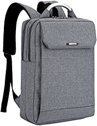 "Mochila pc de portátiles 14-15"" Laptop Impermeables Negocio Backpack Rucksack para Hombre / Mujer Negra"