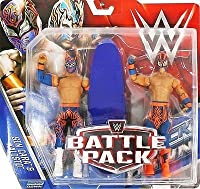 WWE Battle Pack Series 42 Action Figure - Sin Cara & Kalisto (The Lucha Dragons) by Wrestling - WWE Battle Pack Series 42 Action Figure - Sin Cara & Kalisto (The Lucha Dragons)