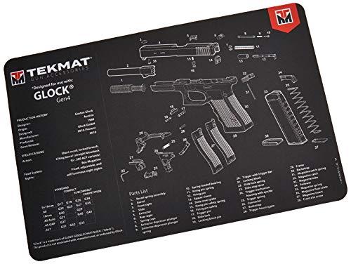 TekMat Unisex Glock Gen4Matte, schwarz, 900ml. - Kratzfeste Arbeitsfläche